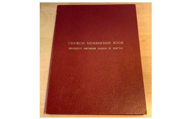 Cover of the UUC Church Membership Book