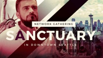 Sanctuary Network Gathering in downtown Seattle