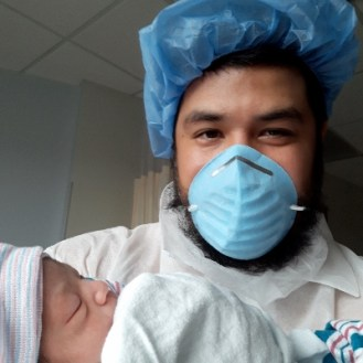 Luis and his new daughter