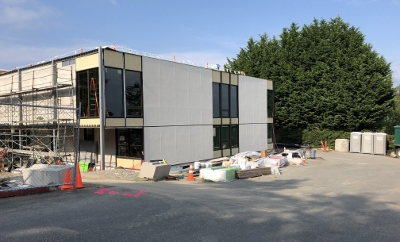 New south wing of UUC viewed from the SW as of May 2019