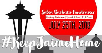 Salsa Bachata Fundraiser, Century Ballroom, 9pm-1:15am, $13 Cover, July 25th, 2019 #Keep Jaime Home