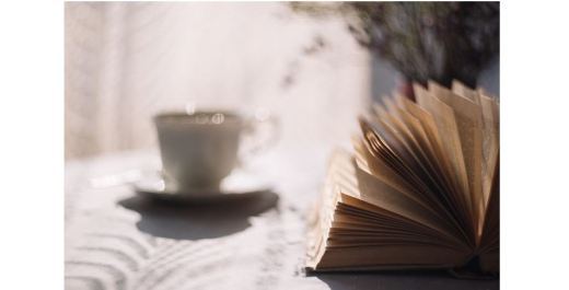 Book and cup of tea