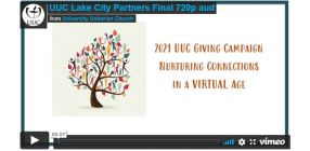 Opening shot of video: 2021 UUC Giving Campaign: Lake City Partners