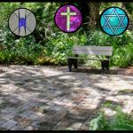 Peace Garden and religious icons