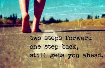 Image result for two steps forward