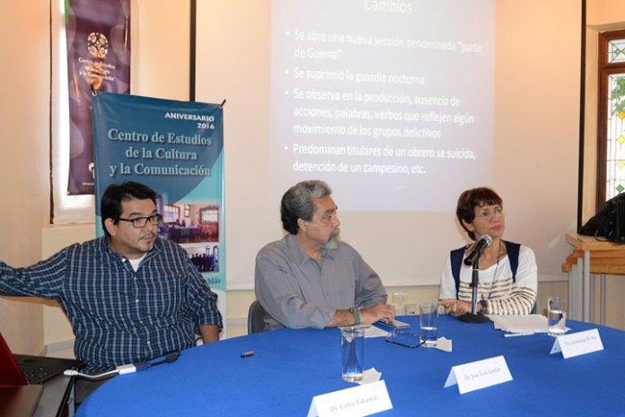 Carlos Villarreal, José Luis Cerdán y Guadalupe Mar, catedráticos de la Facico