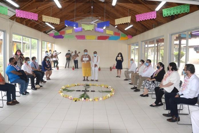 Ritual de bienvenida y purificación, previo al inicio del círculo de la palabra
