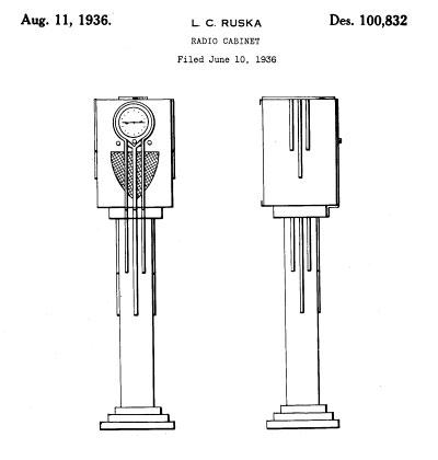 Fantasy Radios-Design Patent Images 1930-1943 (Part 2)