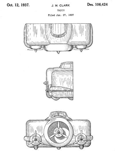 Fantasy Radios-Design Patent Images 1930-1943 (Part 2)
