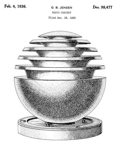 FANTASY RADIOS-DESIGN PATENT IMAGES 1930-1943 (PART 1)