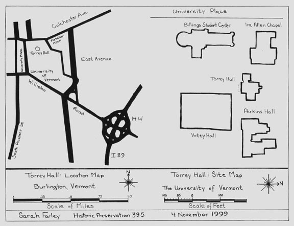Fig. 3: Torrey Hall Location Map and Site Plan