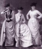 women's clothing - 1880s