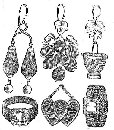 Greenberg: Godey's Lady's Book: Fashion: Hair Jewelry