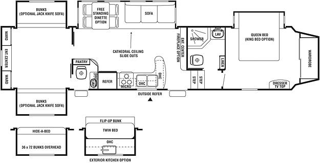2011 Forest River Cedar Creek Silverback 35QB4 Fifth Wheel