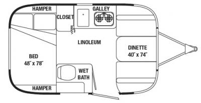 AIRSTREAM FLOOR PLANS