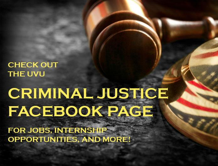 Criminal Justice at UVU  Criminal Justice  Utah Valley