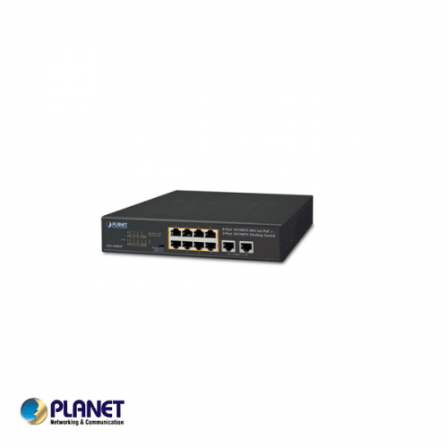 Planet 8 poorts 100mbit switch / 8* PoE+ poort 120Watt + 2* uplink