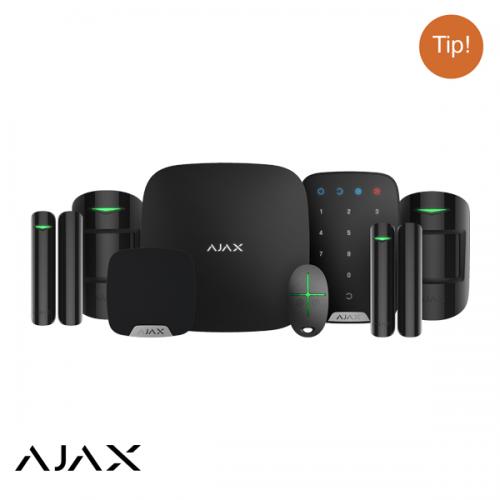 Ajax Hubkit LUXE ZWART: GSM/LAN hub