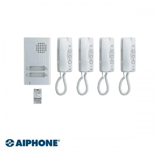 Aiphone Audio set 4 appartementen (DA-1MD x 4
