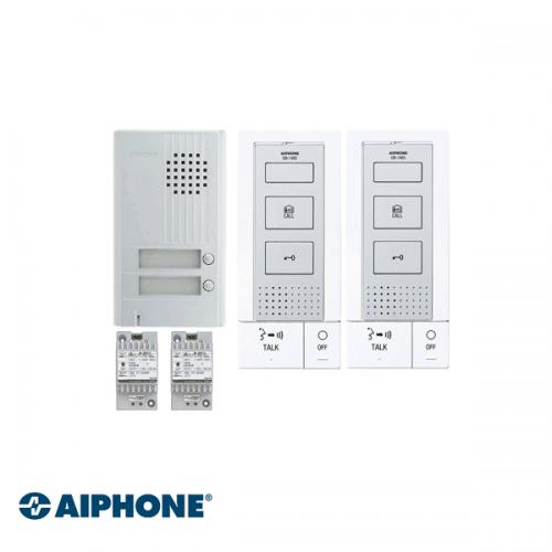 Aiphone Hands-free Audio set 2 appartementen (DB-1MD x 2