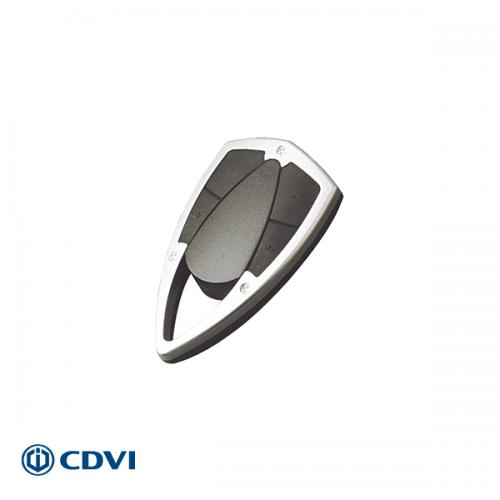 CDVI metalen design handzender 4-kanaals 433 Mhz