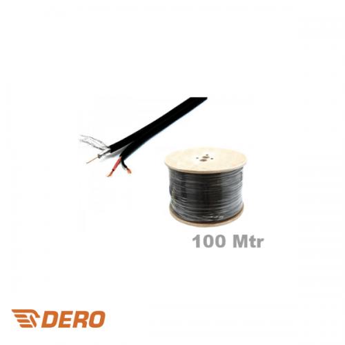 Coax combi kabel RG59+ 2*0.75mm2 haspel 100 meter
