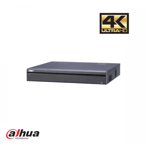 Dahua 32 kanalen 4K NVR met 16 PoE poorten incl 2 TB HDD