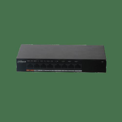 Dahua 8-Port Gigabit Ethernet PoE Switch met 4-Port PoE