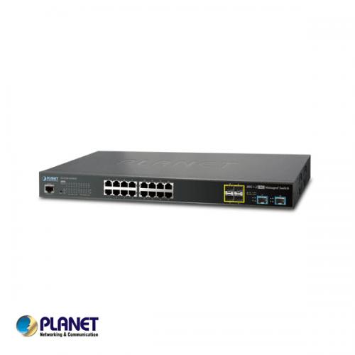 Planet L2+ 16-Port 10/100/1000T + 4-Port 100/1000X SFP + 2-Port 10G SFP+ Managed Switch