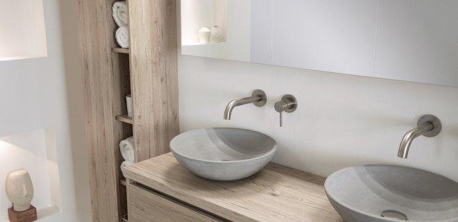 Badkamertrend stoer beton in de badkame  UWbadkamernl