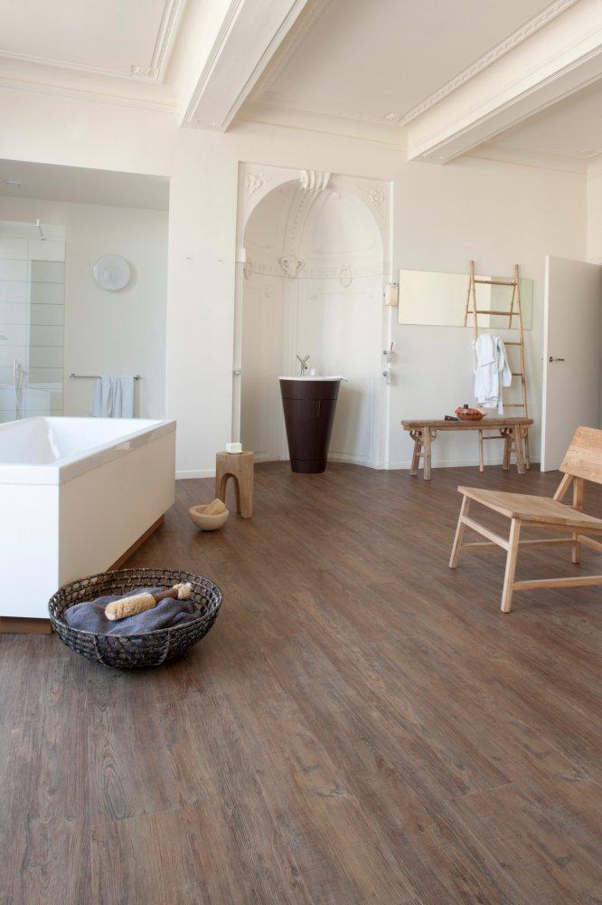 houten vinylvloer in de badkamer  Product in beeld