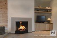 M-design liftdeurhaard Luna Diamond Verticaal - Product in ...