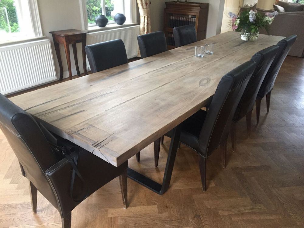 Woodindustries eiken houten eettafel op maat  UWkeukennl