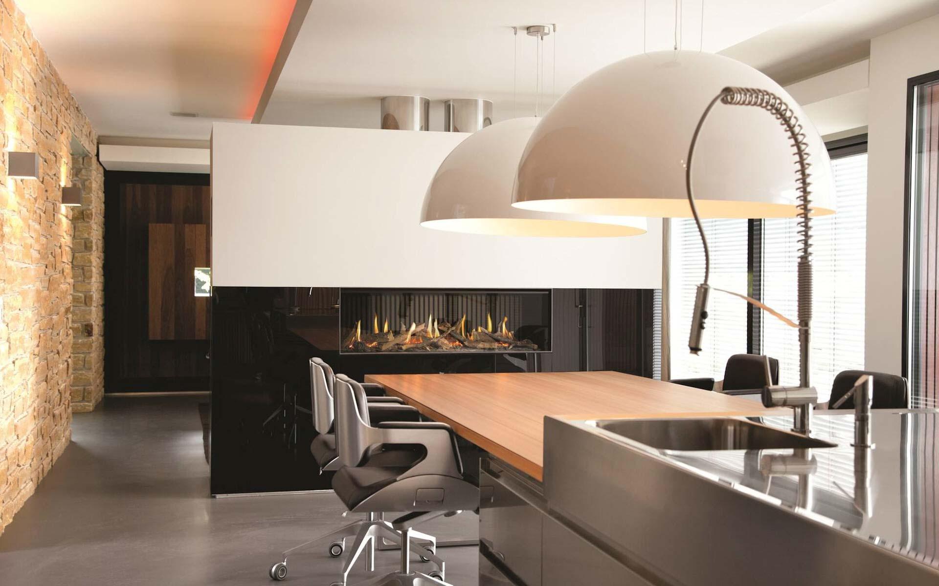 Een haard in de keuken  interieurinspiratie  UWkeukennl