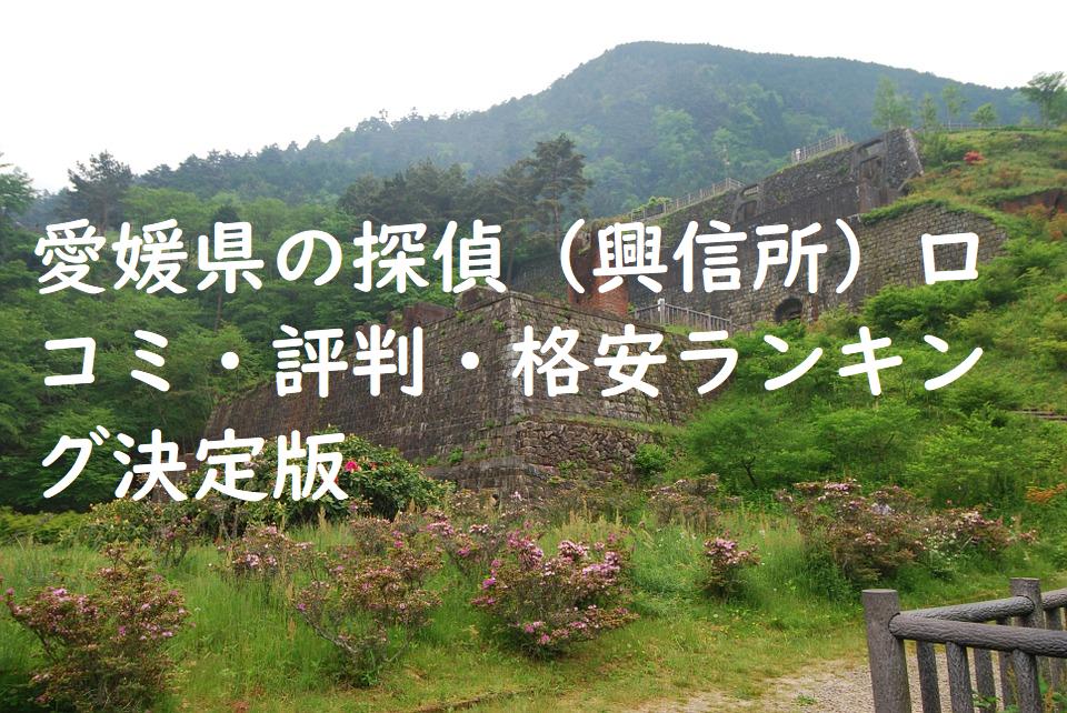 愛媛県の探偵(興信所)口コミ・評判・格安ランキング決定版