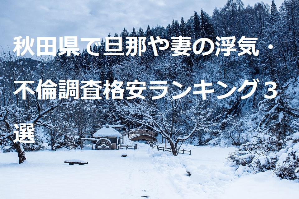 秋田県で旦那や妻の浮気・不倫調査格安ランキング3選