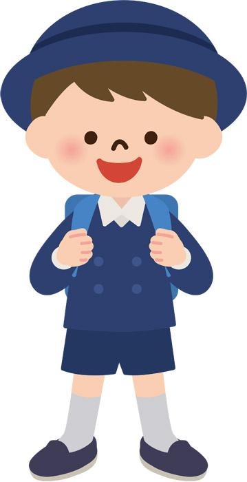 学生服姿の小学生の男の子