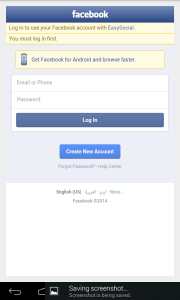 Authentication Facebook.