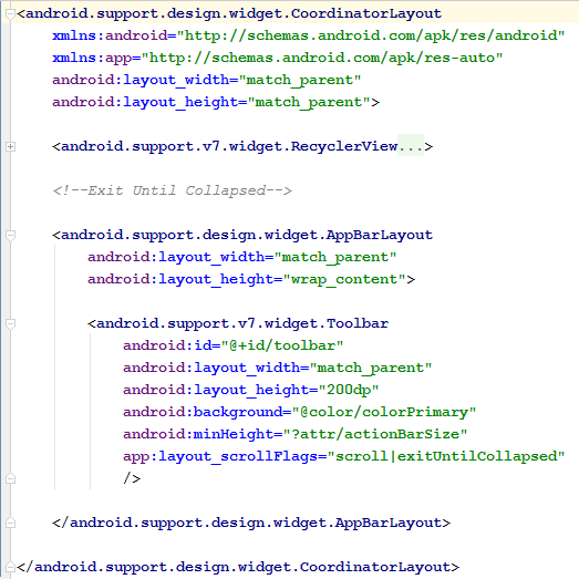 Exit Until Collapsed code snippet