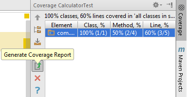Code coverage HTML report.