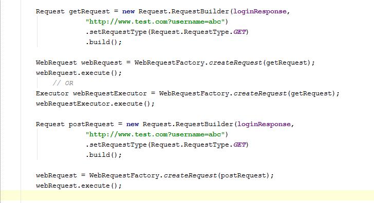 WebRequest Calling code.
