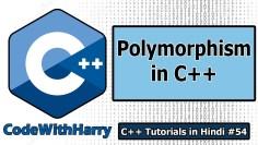 Polymorphism in C++ | C++ Tutorials for Beginners #54