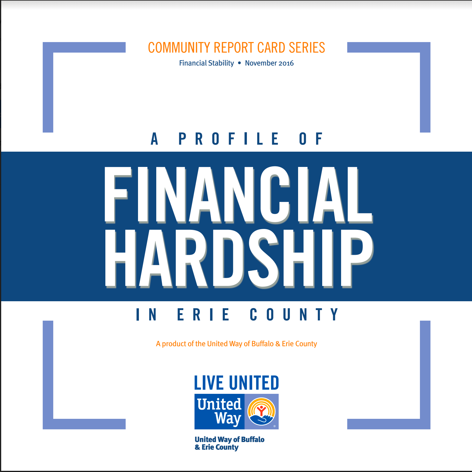 41% Of Erie County Residents Struggle To Make Ends Meet.
