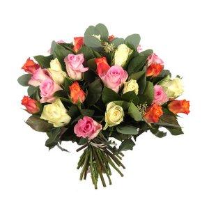 Gemengde rozen | Boeket Britt | Uwbloemenman.nl
