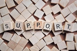 the word support