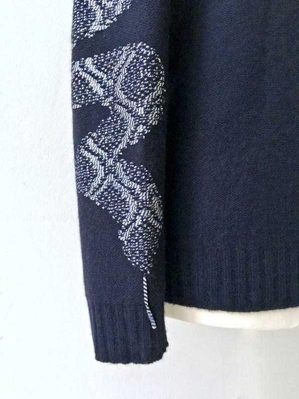 shake and strips kaschmir merino blau schlange handmade uwe urbansky