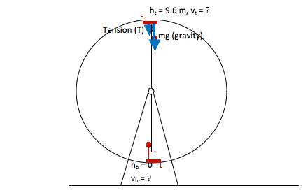 Multi-Part Force and Energy Problem: Vertical Circle