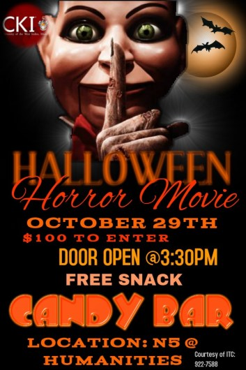 University of the West Indies Mona Circle K International Club Halloween Movie Day 2015 featured image