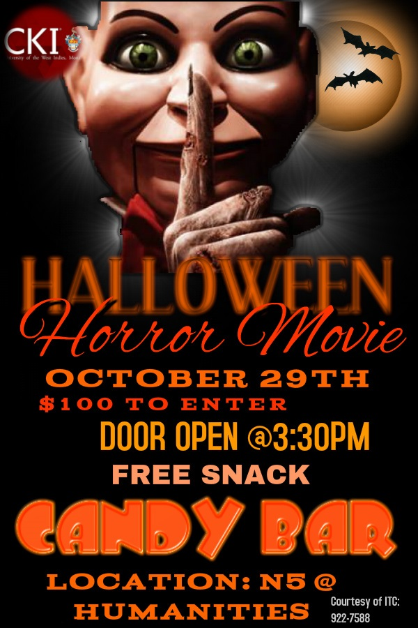 University of the West Indies Mona Circle K International Club Halloween Movie Day (Oct 29,2015) featured image
