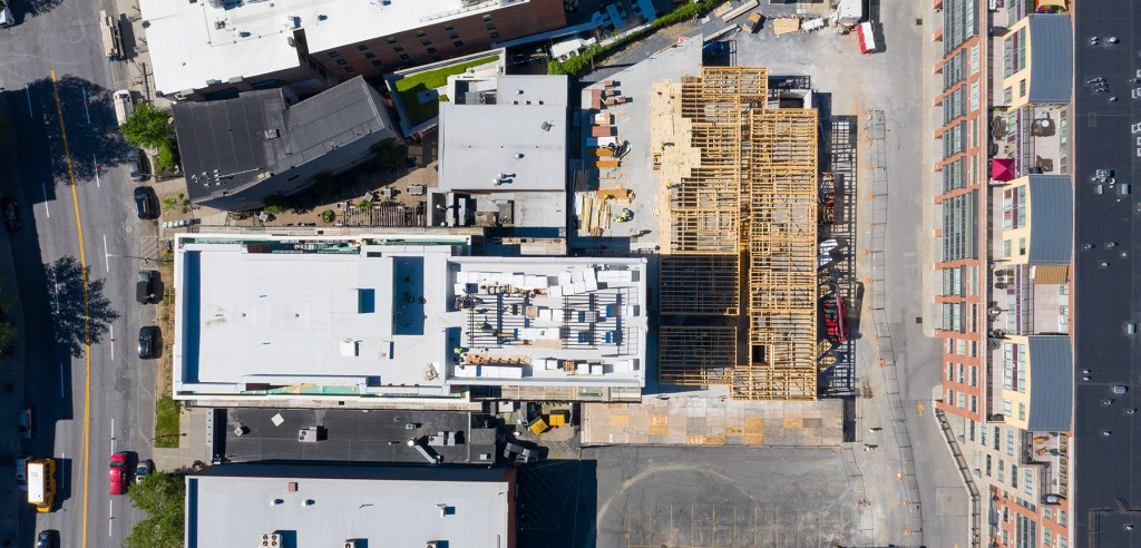 385 Broadway Drone image U.W Marx Construction Management History